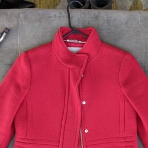 Like New Banana Republic Red Coat